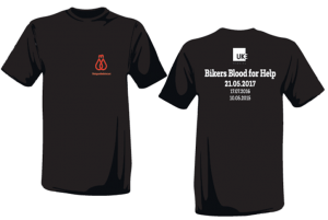 Aktion T-Shirt Bikers Blood for Help BBFH 2017.