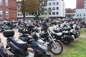 Biker-Parkplatz